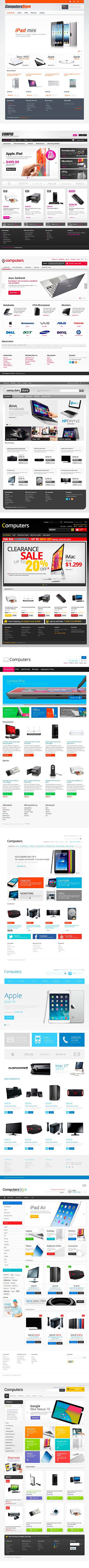 Быстрая установка готовых шаблонных решений для интернет-магазинов по продаже компьютеров - студия 24v7 - Литва, Клайпеда